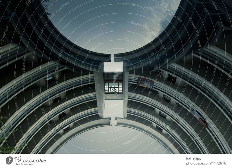 House (Residential Structure) Window Wall (building) Wall (barrier) Facade High-rise Circle Future Balcony Terrace Bow Spacecraft