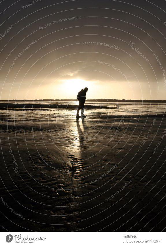 Sun Ocean Beach Clouds Loneliness Dark Sand Rain Coast Weather Island North Sea Spiekeroog