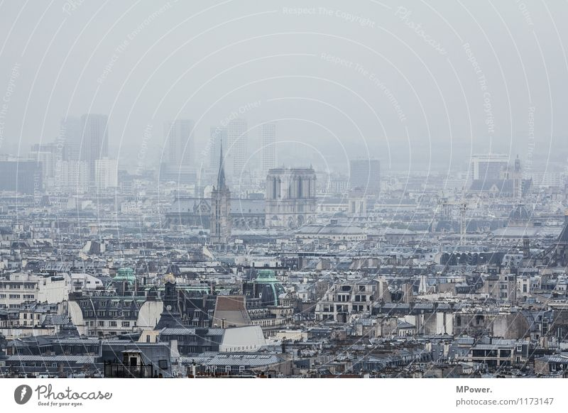 Notre Dame de Paris Art Town Capital city House (Residential Structure) Church Old France Fog Smog Old town Historic Dome Skyline Montmartre Quarter