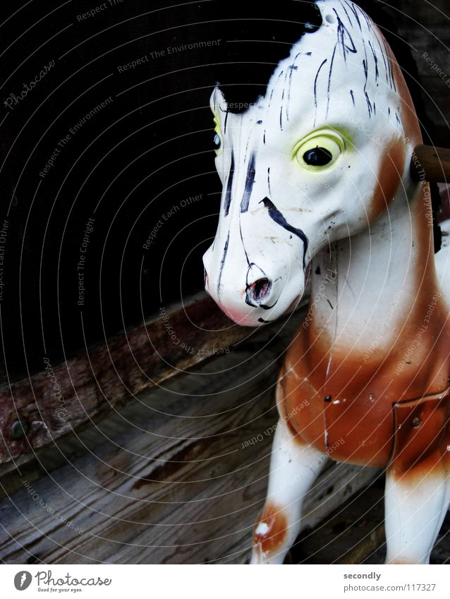 Eyes Playing Infancy Horse Transience Painting (action, work) Toys War Mammal Swing