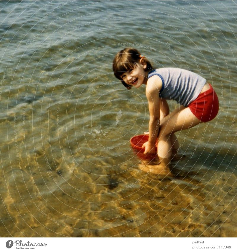 Human being Child Water Girl Ocean Joy Beach Vacation & Travel Life Relaxation Playing Stone Wind Island Collection