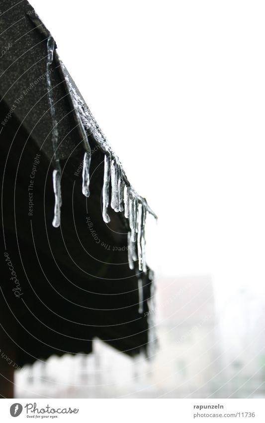 Father Frost sends his regards #2 Roof Gutter Derelict Wet Cold Winter Icicle Ice Drops of water