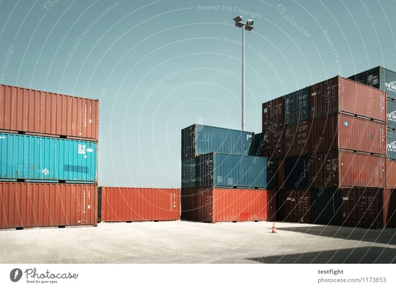 Summer Sun Architecture Shopping Logistics Economy Society Workplace Trade Container Goods Exchange of goods