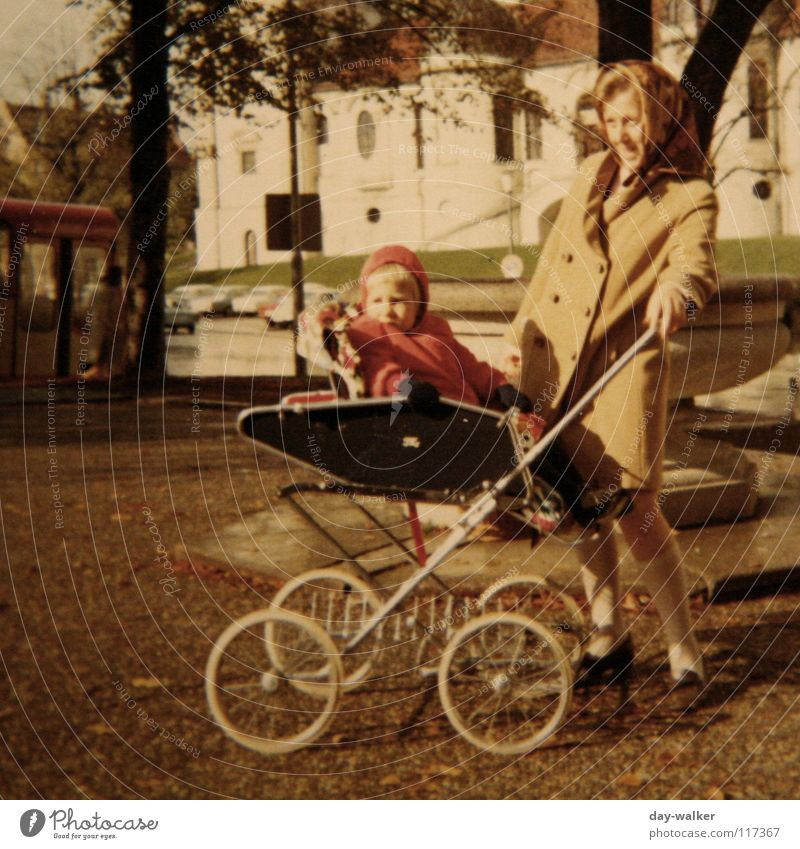 Family & Relations Together Trip Retro Mother Munich Curiosity Toddler Historic Bavaria Baby carriage
