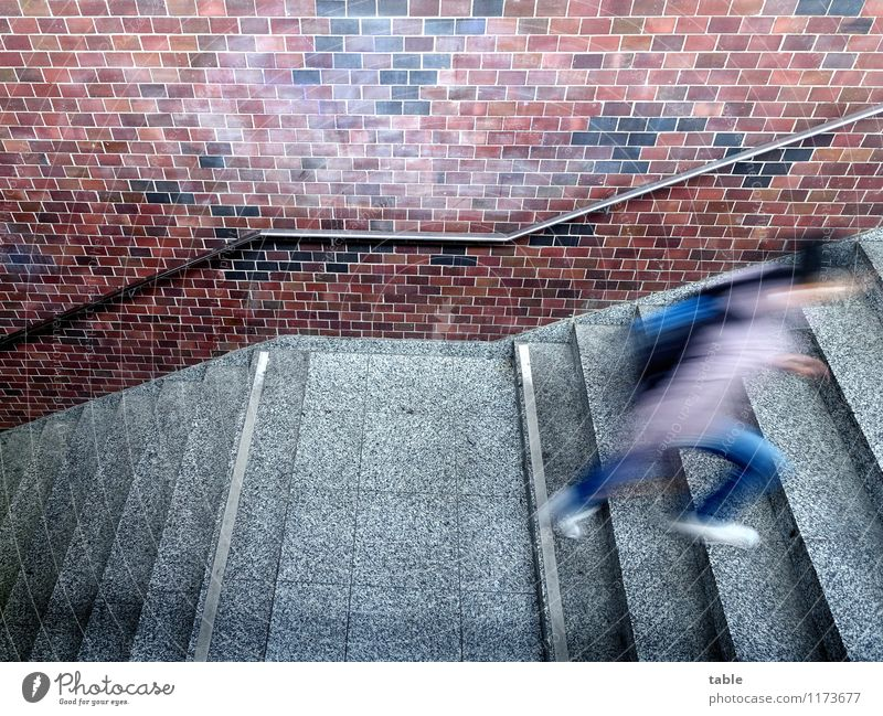 Human being Woman Youth (Young adults) Man City Young woman Young man Adults Life Wall (building) Movement Building Wall (barrier) Gray Brown Stairs