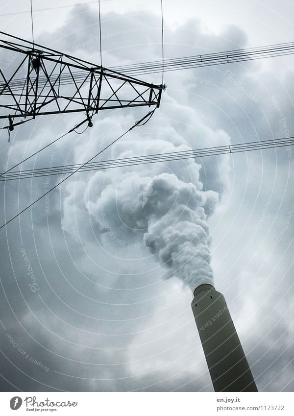 Sky Clouds Environment Healthy Gray Energy industry Climate Future Threat Industry Fear of the future Smoking Factory Environmental protection Economy