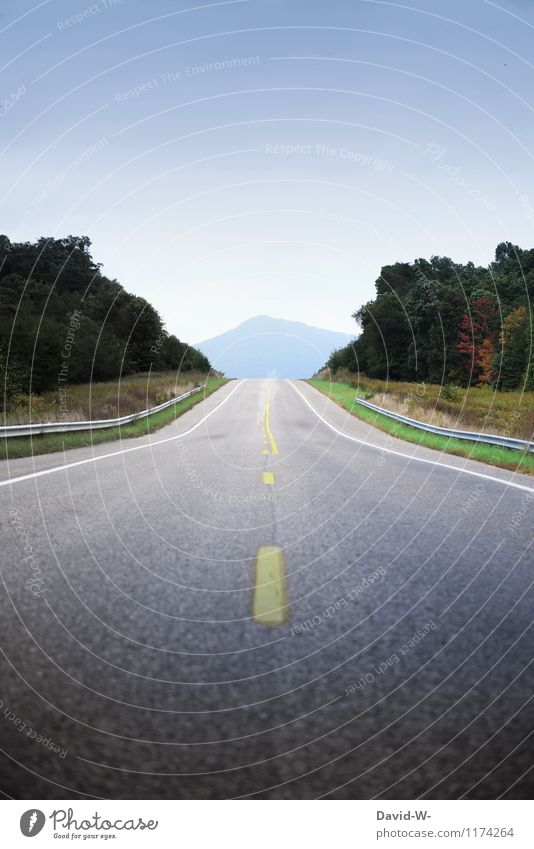 the road to... Vacation & Travel Trip Far-off places Summer vacation Mountain Environment Nature Landscape Cloudless sky Beautiful weather