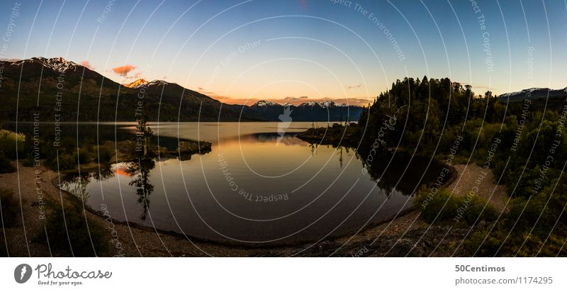 panorama of national park Los Alerces Vacation & Travel Tourism Trip Adventure Far-off places Freedom Summer Summer vacation Mountain Nature Landscape Sunrise