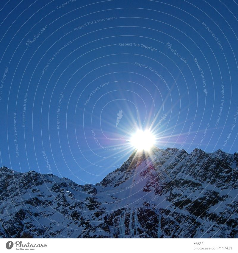 Sky Nature Vacation & Travel Blue White Sun Landscape Winter Black Mountain Snow Freedom Flying Rock Ice Point