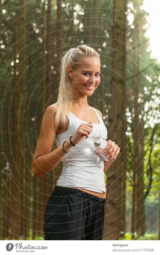 Human being Woman Nature Youth (Young adults) Water Young woman Tree Joy 18 - 30 years Adults Feminine Sports Happy Air Power Blonde