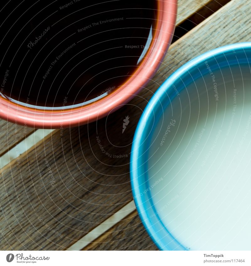 Blue Red Black Wood Pink Circle Beverage Coffee Drinking Round Decoration Gastronomy Café Cup To enjoy Milk