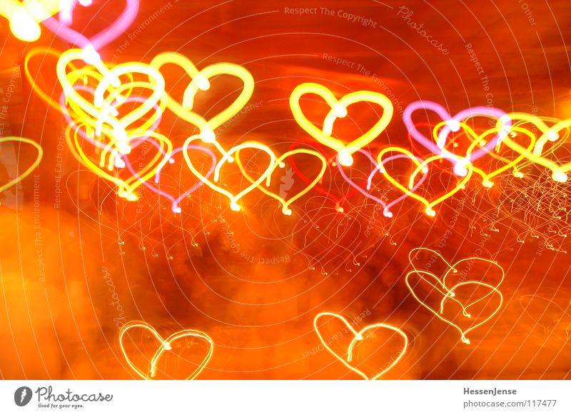 Lighting effects 1 Affection Red Joy Love Long exposure Heart Colour Blur Emotions Movement