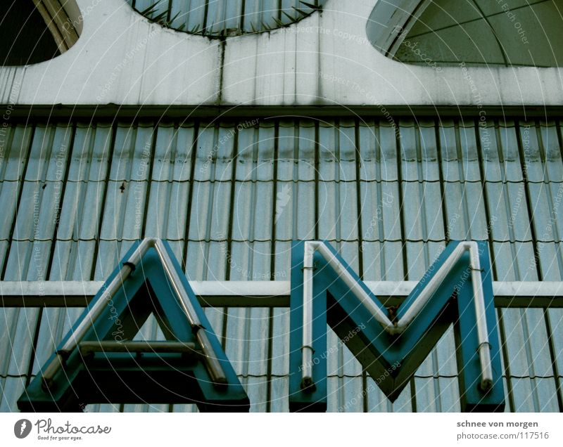 Blue White Window Lamp Dirty Letters (alphabet) Signage Derelict Tile Theatre Ruin Curve Cinema Neon sign Public service
