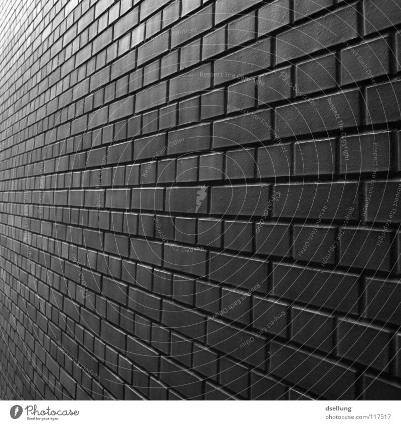 Along the wall in black and white Wall (barrier) Wall (building) Vanishing point Brick Offset Infinity Diligent Far-off places Rejuvenate Gloomy Parallel Detail