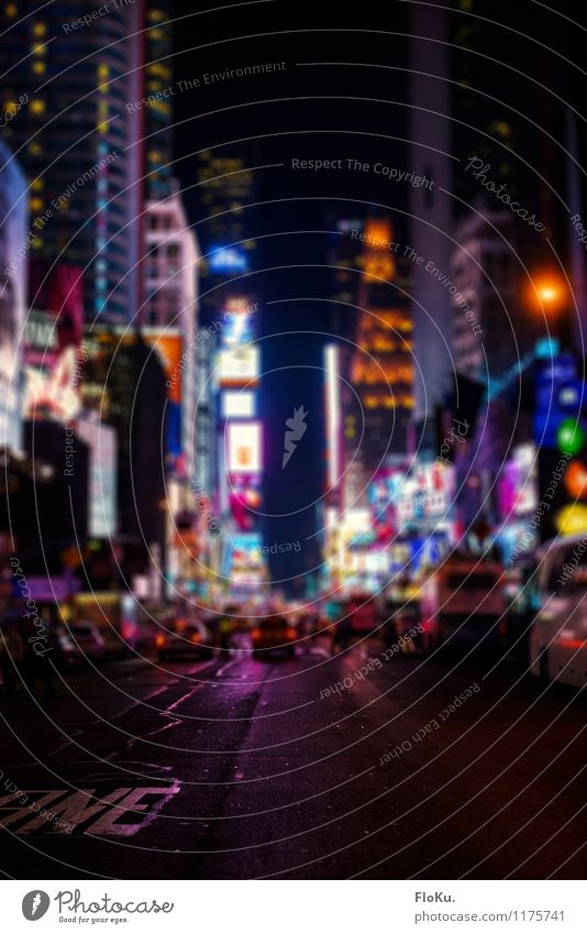 Times Square at night Lifestyle Luxury Vacation & Travel Tourism Far-off places Sightseeing City trip New York City Town Downtown Pedestrian precinct