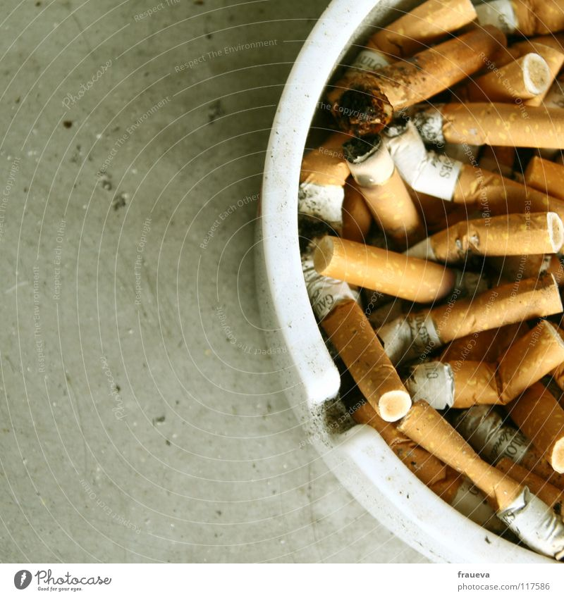 full ashtray Ashtray Cigarette Disgust Window board Unhealthy Colour smoke Smoking Ashes tumble grisly Close-up Alcohol-fueled Cigarette Butt Exterior shot