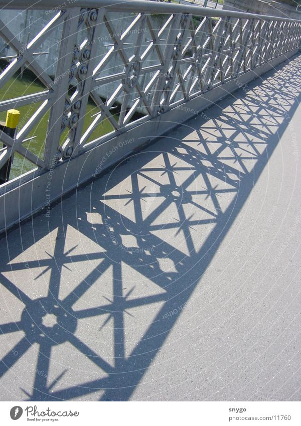 Water Graffiti Bright Architecture Bridge River Steel Handrail