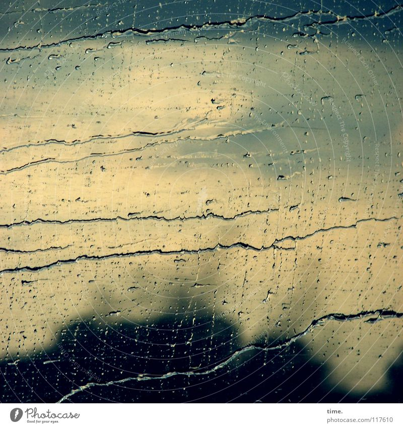 Nature Water Window Autumn Movement Lanes & trails Weather Rain Gloomy Transport Glass Speed Drops of water Wet Transience Railroad