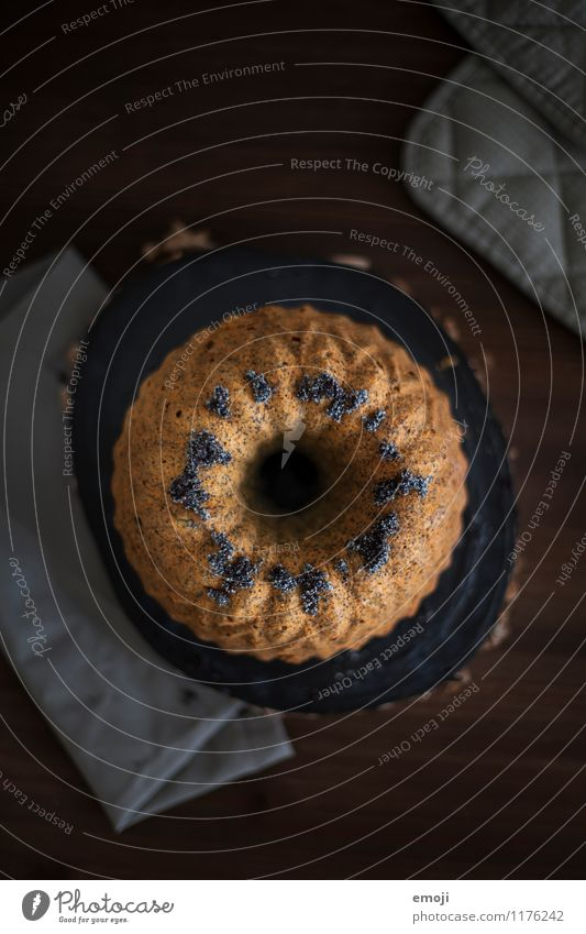 O Cake Dessert Candy Gugelhupf Nutrition Slow food Delicious Sweet Colour photo Interior shot Deserted Twilight Low-key Shallow depth of field Bird's-eye view