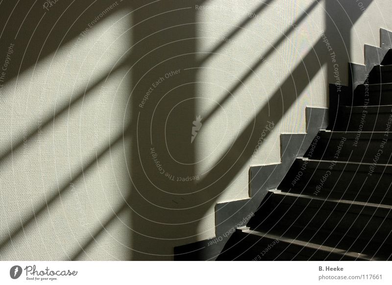 upstairs Graphic Pattern Upward Downward Triangle Staircase (Hallway) Stairs Shadow Prongs Hüfferstiftung