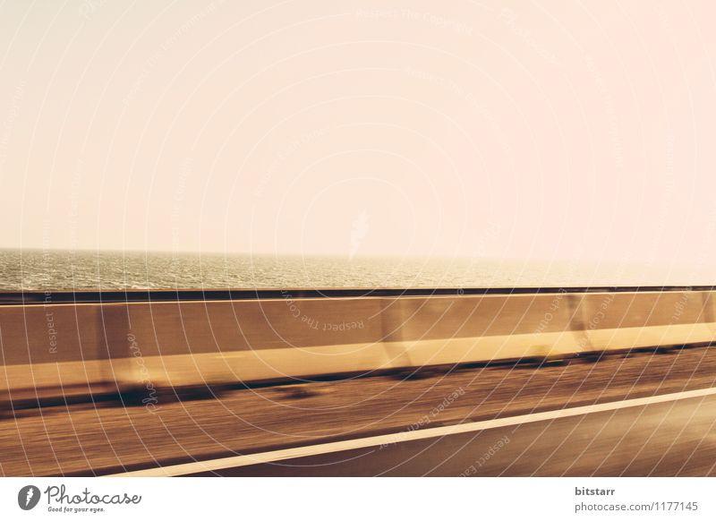 Nature City Summer Ocean Loneliness Landscape Yellow Warmth Street Movement Lake Brown Gold Speed Concrete Bridge