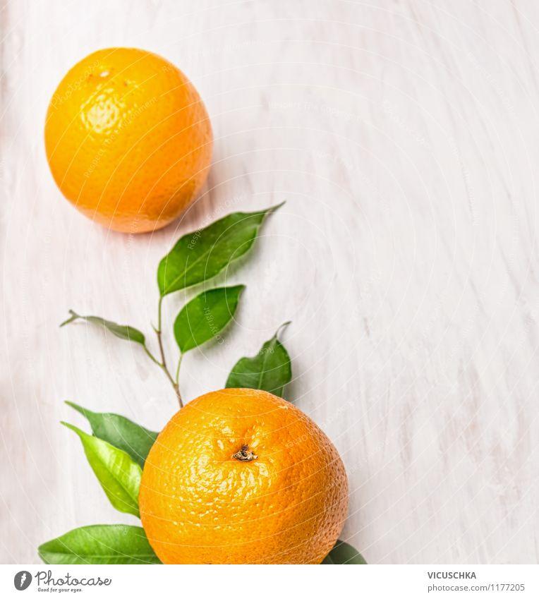 Fresh oranges on twig with leaves Food Fruit Orange Nutrition Breakfast Organic produce Vegetarian diet Diet Juice Style Design Healthy Eating Life Summer