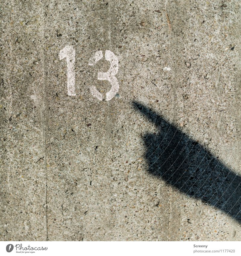 The 13 | UT Cologne Hand Fingers Wall (barrier) Wall (building) Concrete Sign Digits and numbers Gray White Popular belief Indicate Interpret Jinx Happy