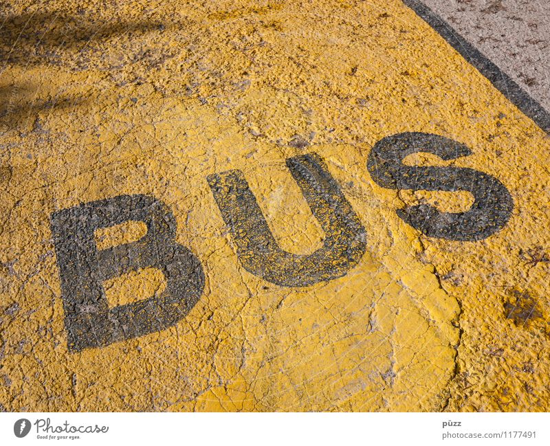 bus Town Deserted Transport Means of transport Traffic infrastructure Passenger traffic Public transit Bus travel Street Road sign Stone Sign Characters