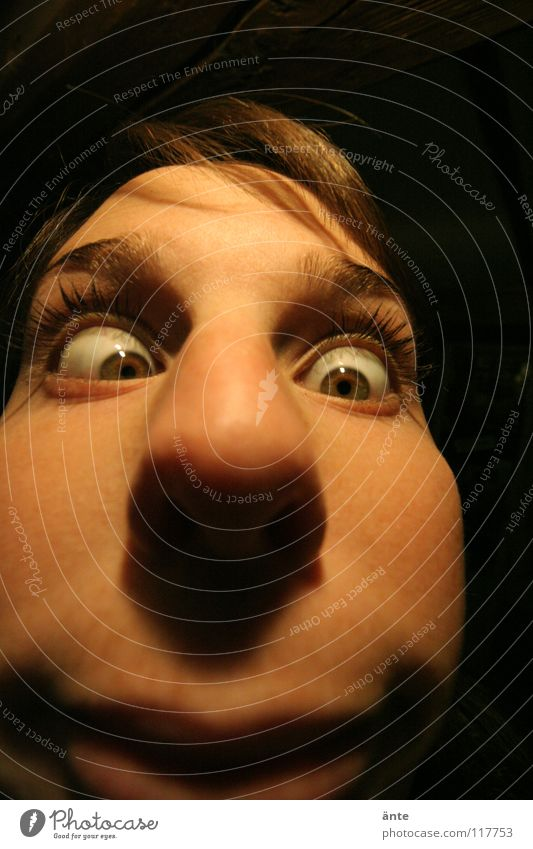 Human being Face Eyes Nose Disgust Fisheye Eyelash Grimace Absurdity Foreign Squint Distorted Madness Harrowing Humor