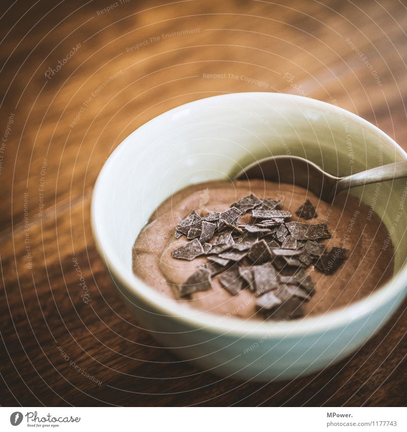 chocolate mousse Food Eating To have a coffee Slow food Good Sweet Chocolate Delicious Dessert Chocolate crumble Colour photo Interior shot