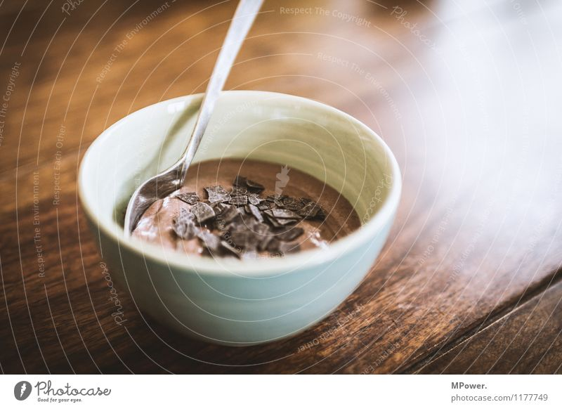 Beautiful Dish Eating Food photograph Sweet Delicious Good Dessert Chocolate Wooden table To have a coffee Slow food Chocolate crumble