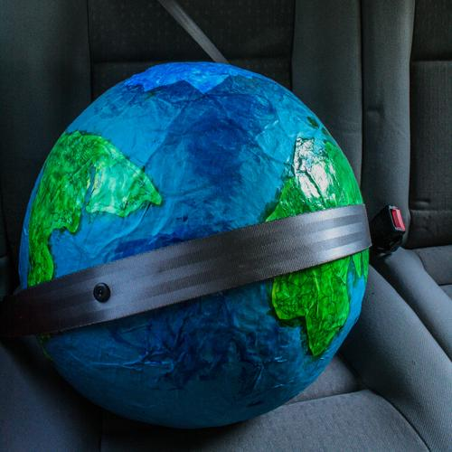 Vacation & Travel City Blue Green Environment Movement Funny Earth Car Transport Safety Driving Environmental protection Sustainability Globe Politics and state