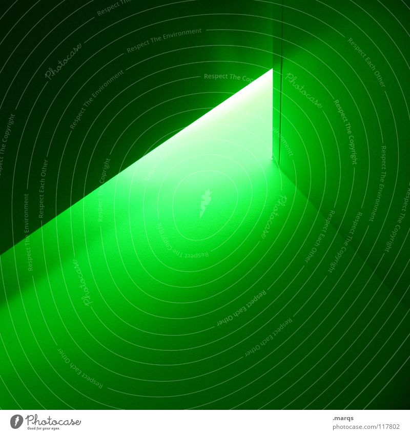 Green Wall (building) Line Bright Lighting Fear Architecture Corner Things Radiation Narrow Geometry Panic Poison Surface Dazzle