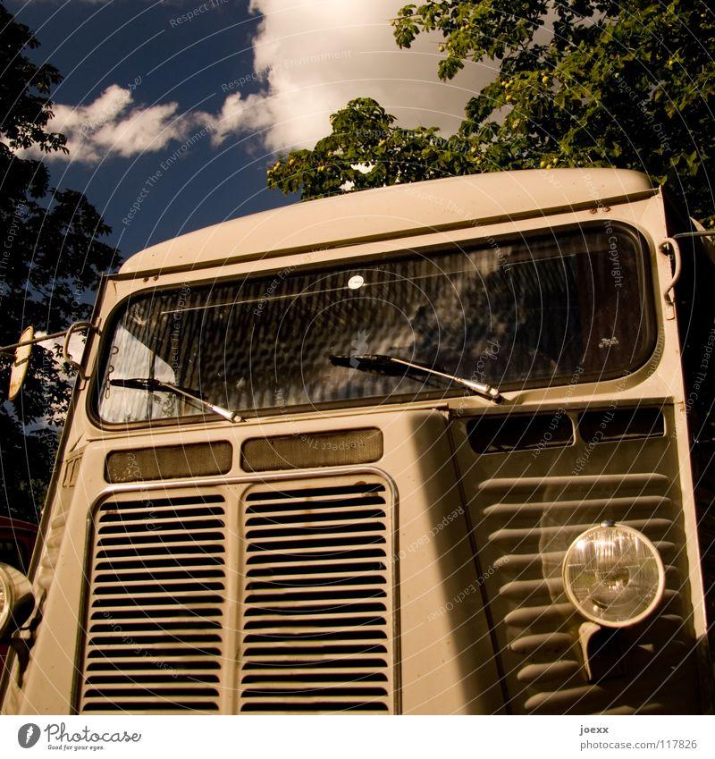 Old Car Design Transport Technology Truck France Floodlight Vintage car Sharp-edged Front side Windscreen Electrical equipment Shut down Transporter Windscreen wiper
