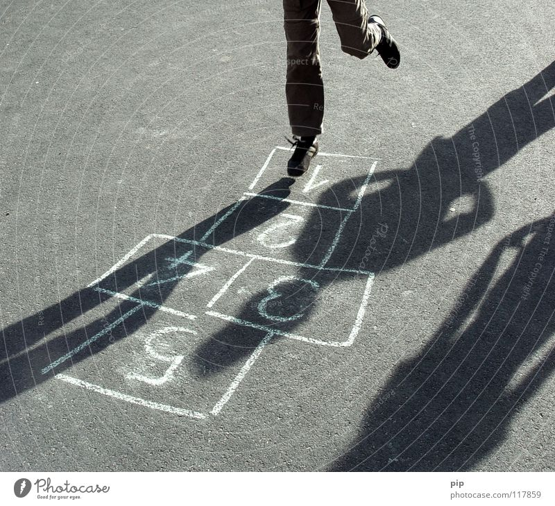 First Step Hop Jump Ease Contentment Footstep Transition Field Playing Playful Pessimist Game rules Children's game Memory Asphalt Pastime Level Looking