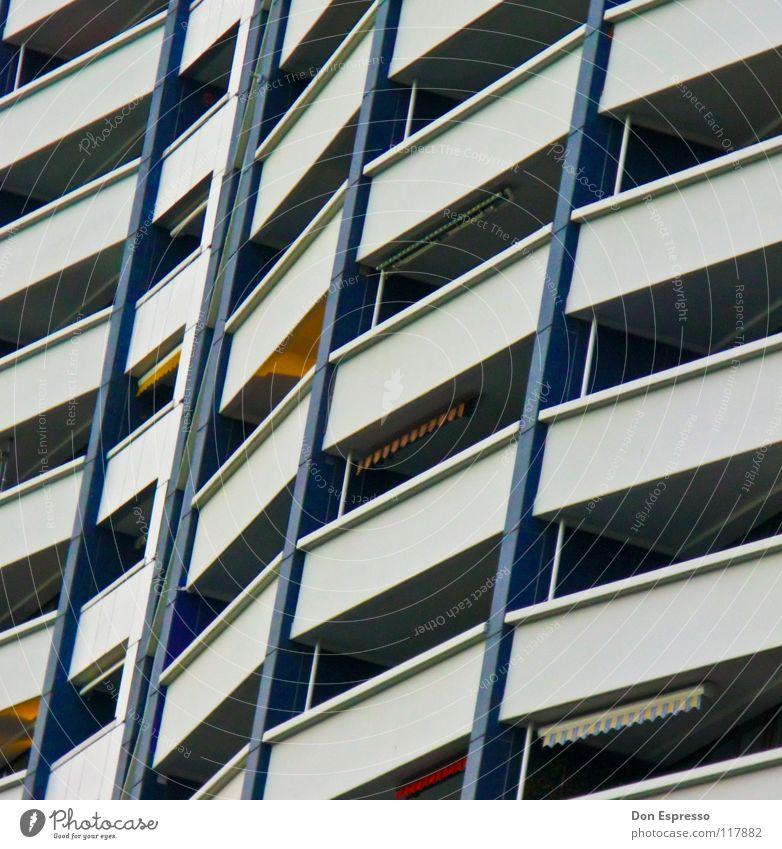 City House (Residential Structure) Line High-rise Facade Living or residing Balcony Graphic Prefab construction Ghetto Bremen Sun blind Bremerhaven
