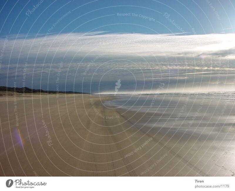 Fraser Beach Fraser Island Australia in the morning
