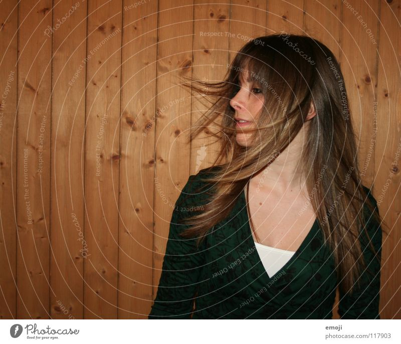 miss luzern Woman Youth (Young adults) Rocking out Party Authentic Wooden wall Air Breeze Beautiful Sweet Beauty Photography Lust Emotions To enjoy Movement