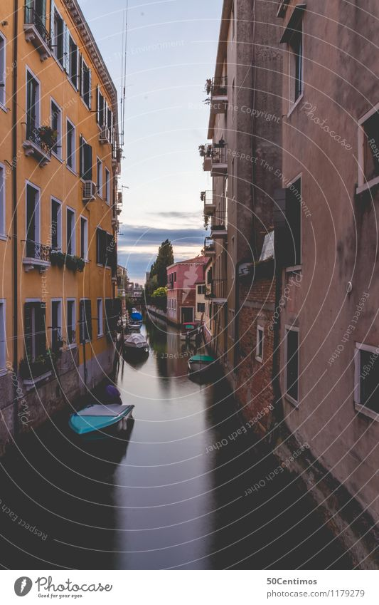 Silence and tranquillity in the streets of Venice Luxury Vacation & Travel Tourism Trip Far-off places Sightseeing City trip Summer vacation Sunrise Sunset