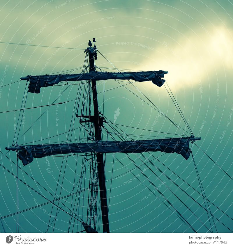 Sky Green Ocean Clouds Lake Watercraft Wind Rope North Sea Sailing Turquoise Navigation Electricity pylon Baltic Sea Ladder