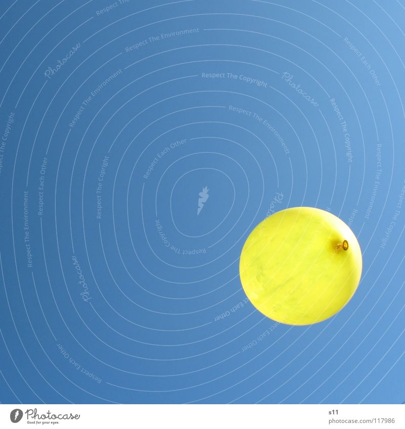 Sky Blue Summer Yellow Party Air Weather Birthday Aviation Balloon Point Hover Sky blue