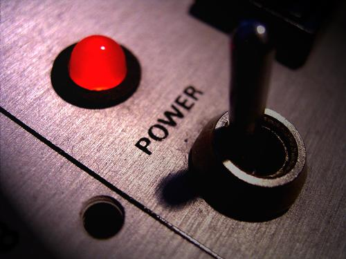 I'm On! Technology Entertainment electronics Hot Retro Strong Red Power Energy Switch LED Workshop Electricity Equipment Switch lever Colour photo Close-up