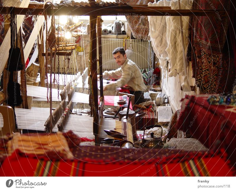 weaver Aleppo Syria Near and Middle East Carpet Weaver Loom Los Angeles