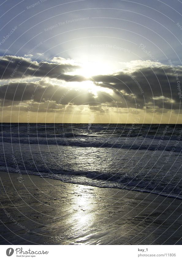 Water Sun Ocean Beach Waves Baltic Sea Sunset Hiddensee