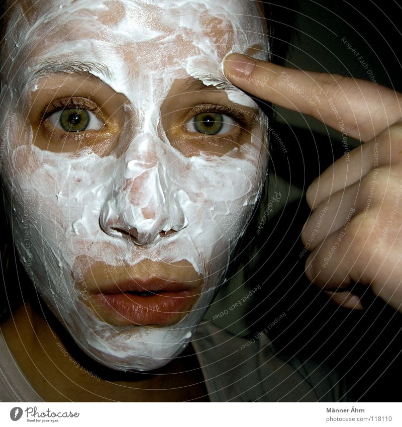 Woman Hand Beautiful White Face Eyes Mouth Bird Healthy Skin Fingers Wellness Bathroom Clean Clarity Cleaning