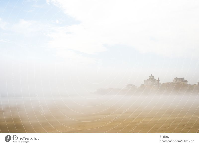 What a view... oh, here comes the fog Vacation & Travel Trip Environment Nature Landscape Elements Sand Water Sky Clouds Weather Fog Coast Beach Ocean Moody