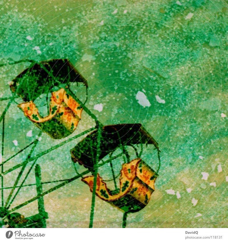 shattered dream Fairs & Carnivals Ferris wheel Carousel Rotate Rotation Shard Splinter Broken Dream Snap Double exposure Joy Colour Obscure in a circle Glass