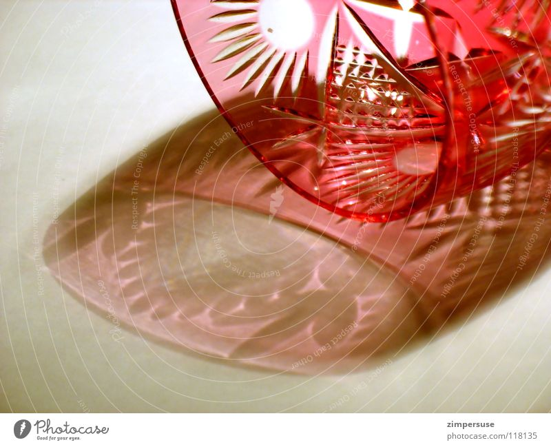 tumbled and upset Red Light Pattern Fragile Shadow Fine Luxury Household Glass Ground down toppled over cupbeared cut glass Noble drinking culture