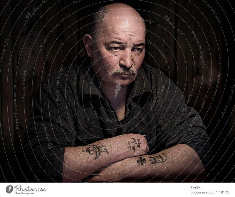 Man Face Dark Lake Watercraft Arm Anger Facial hair Bald or shaved head Thief Aggravation Pirate Treasure