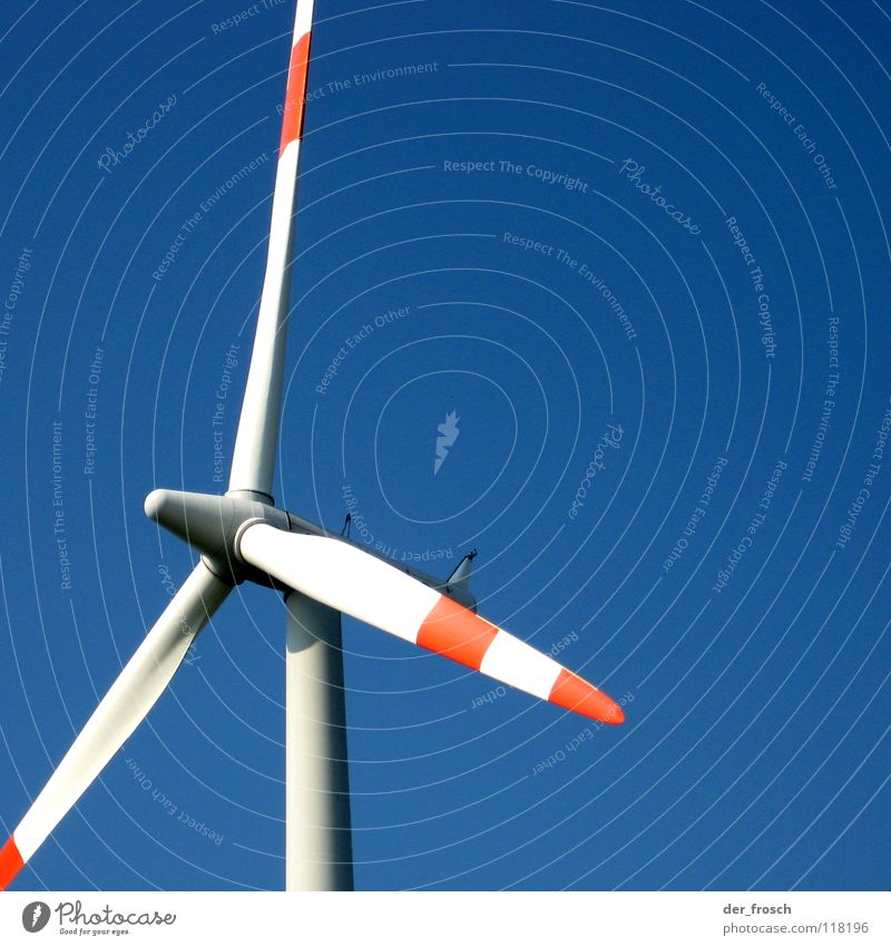 Sky Blue Industry Energy industry Electricity Wing Wind energy plant Energy Rotor Kinetic energy